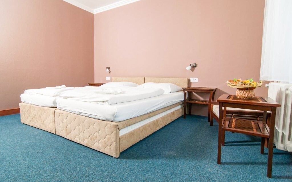 Pokoje Standard nabízí manželskou postel nebo oddělená lůžka