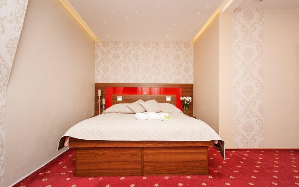 Pohodlné postele v pokoji Lux (za příplatek)