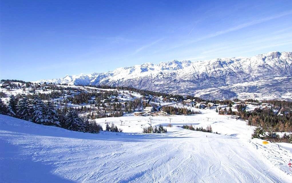 Monte Bondone je vyhlášený lyžařský areál
