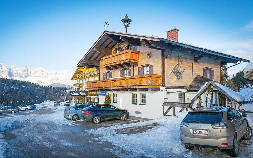 Z Pensionu Bachseitenhof budete mít výhled na hory