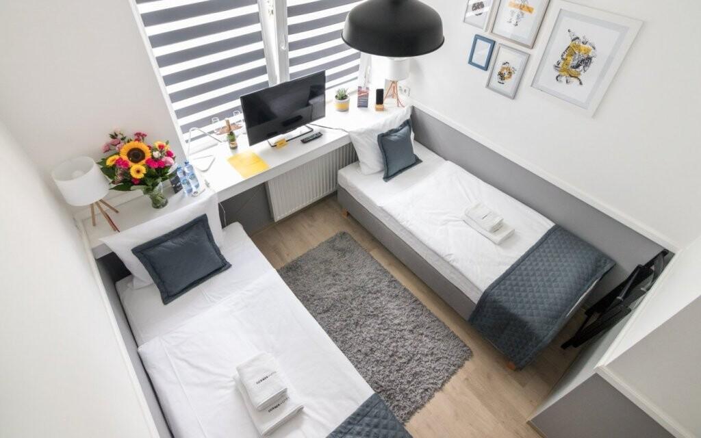 Parádní ubytování v apartmánu s kuchyňkou v Corner Hotelu