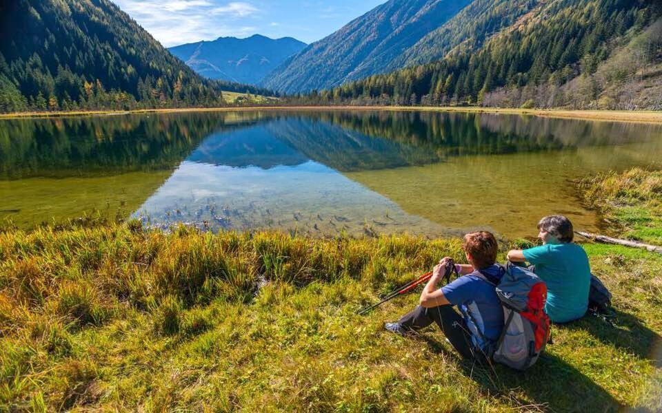 Horská turistika, jezero, Vysoké Taury, Rakousko
