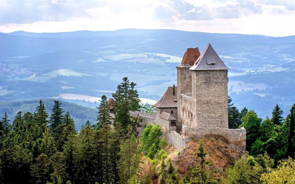 Hrad Kašperk Kašperské hory Šumava