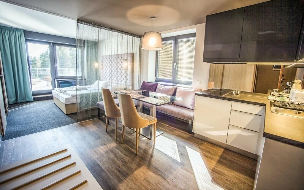Součástí Deluxe apartmánů je i kuchyňka