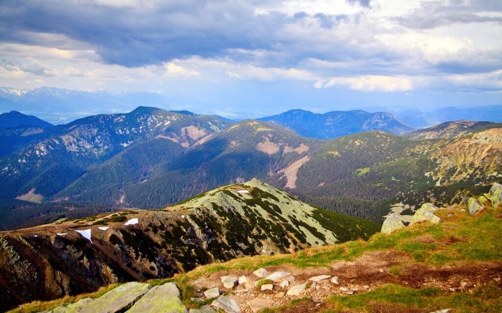 Národní park Nízké Tatry, na hory na Slovensko