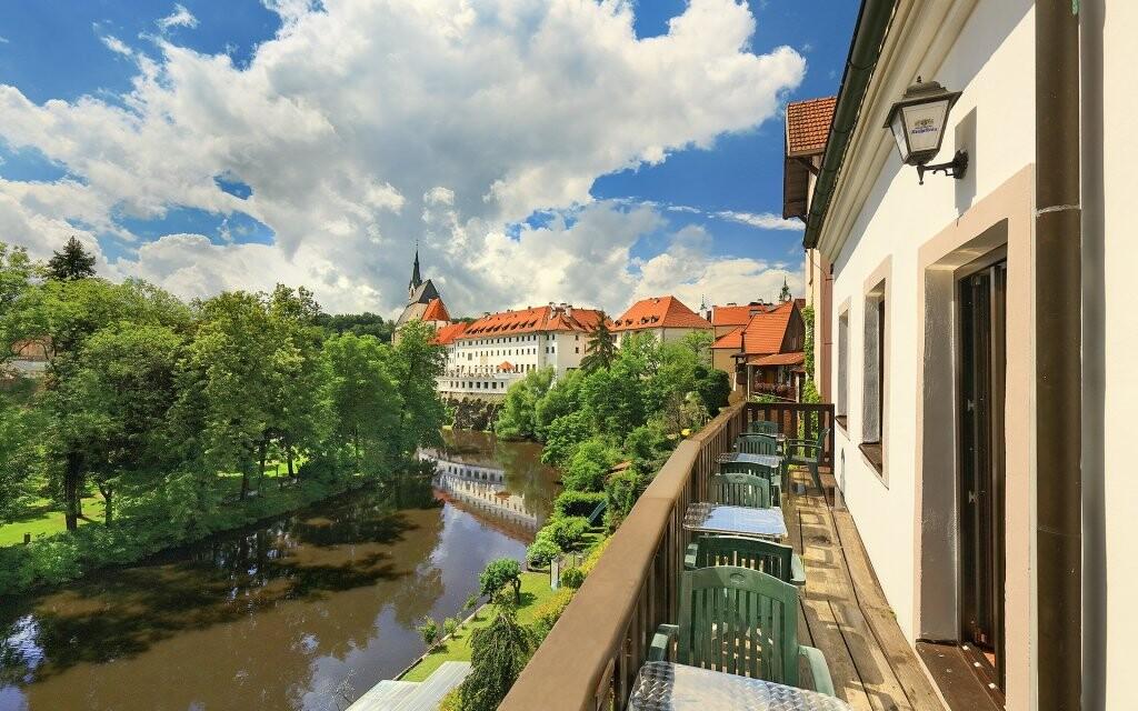 Penzión Teddy Český Krumlov výhľad na Vltavu