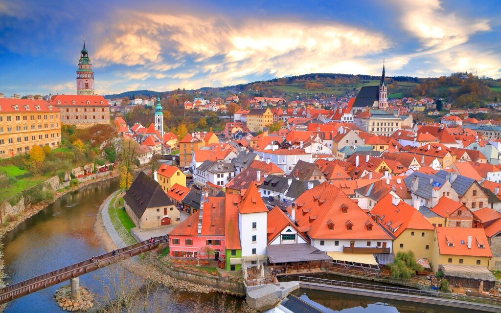 Český Krumlov historické mesto, pamiatka UNESCO, Južné Čechy