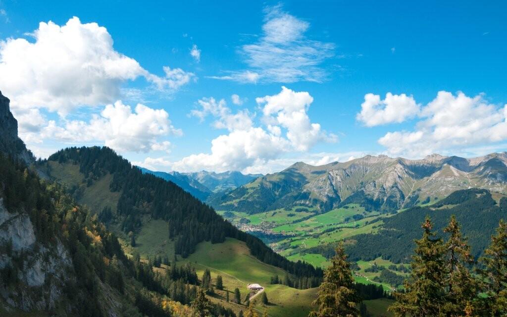 Panorama alpské krajiny, Gaming, Rakousko