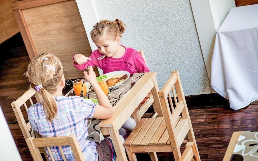 Pro děti je připravená speciálně uzpůsobená část restaurace