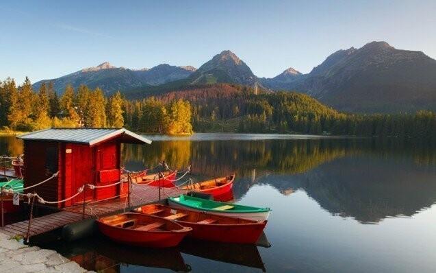 Penzión Pension Voda Strbske Pleso Hory Tatry leto zlava sleva