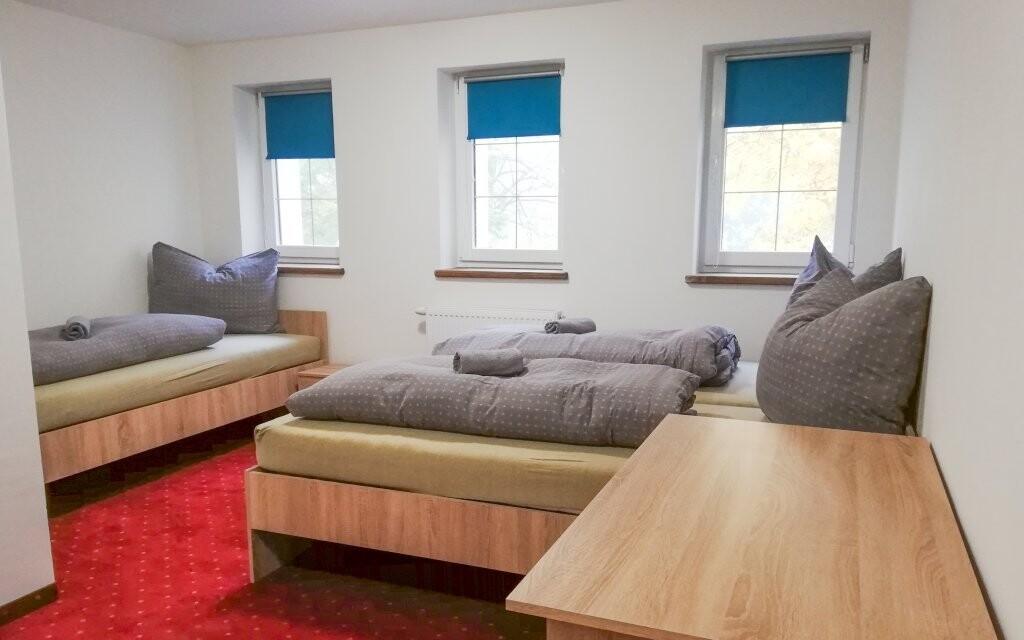Pokoje Penzionu Svatý Petr jsou komfortně vybavené