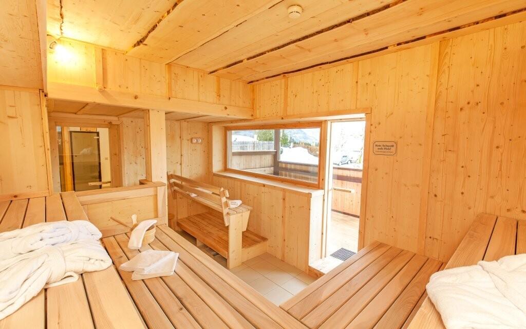 V sauně se zahřejete i v mrazivých dnech