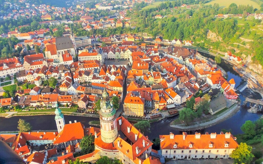 Český Krumlov na zozname pamiatok UNESCO, južné Čechy