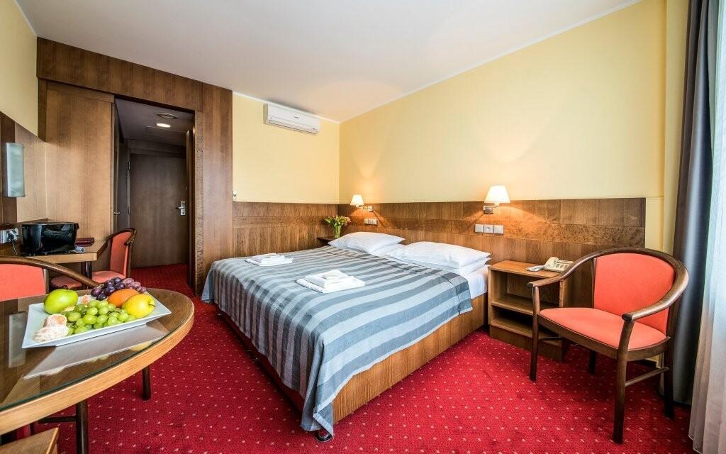 Pokoje Lux jsou pohodlně zařízené