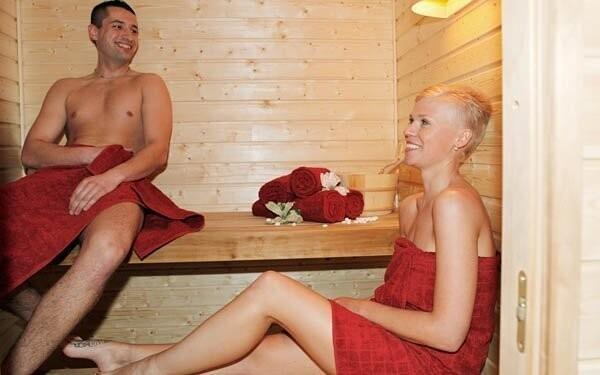 Odpočinek v sauně máte v ceně balíčku