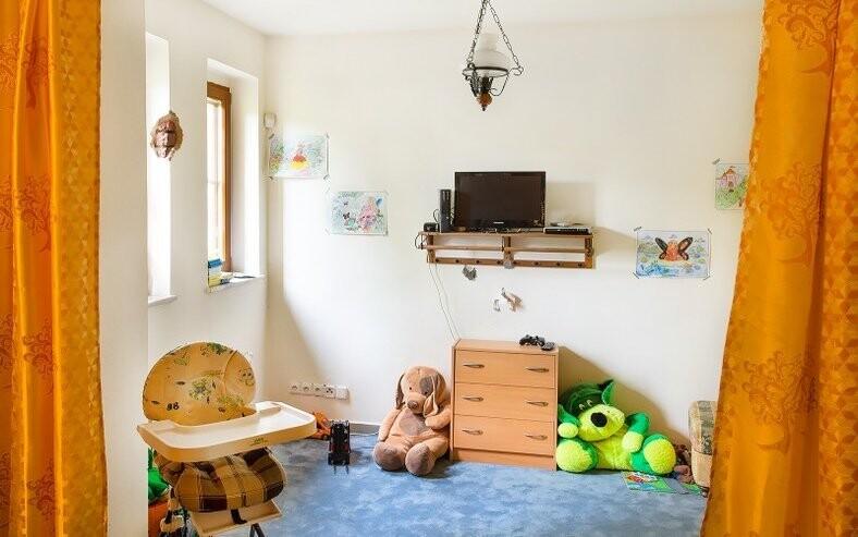 Pro děti je připraven hrací koutek