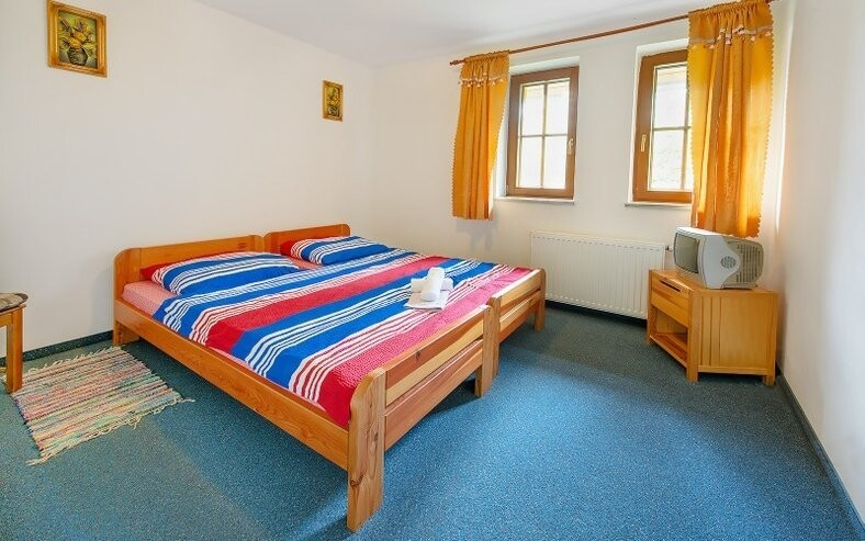 V pokojích je možnost přistýlky, takže můžete vzít také děti