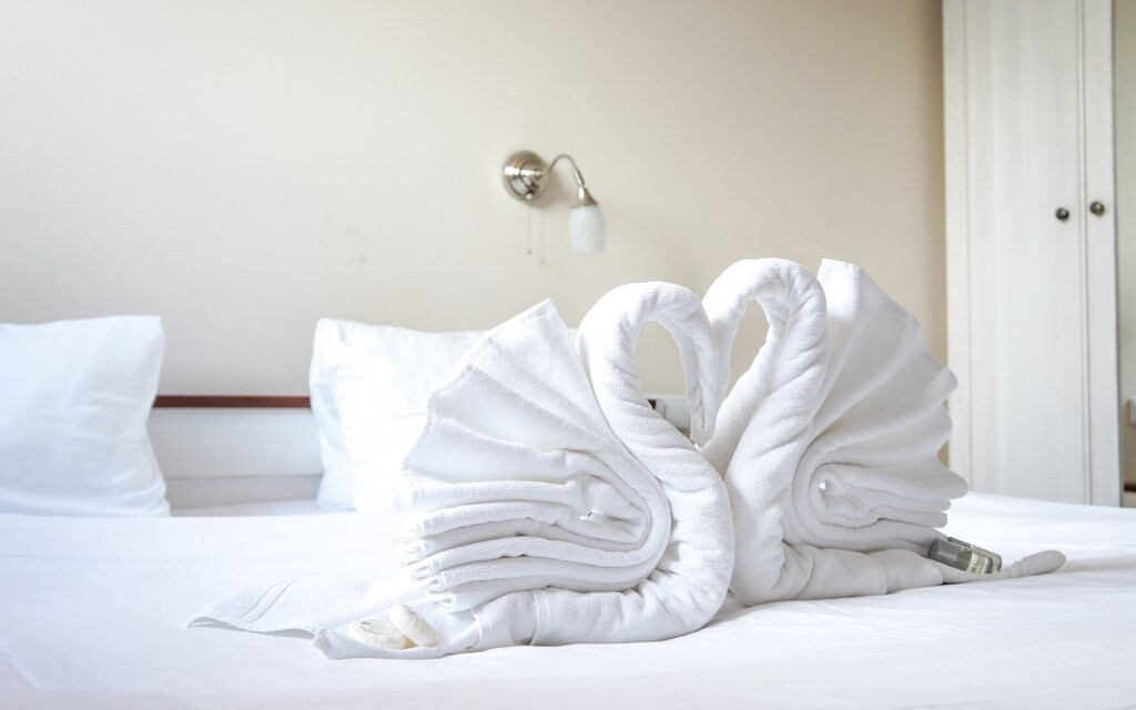 Komfortně zařízené pokoje odpovídají standardu 4*