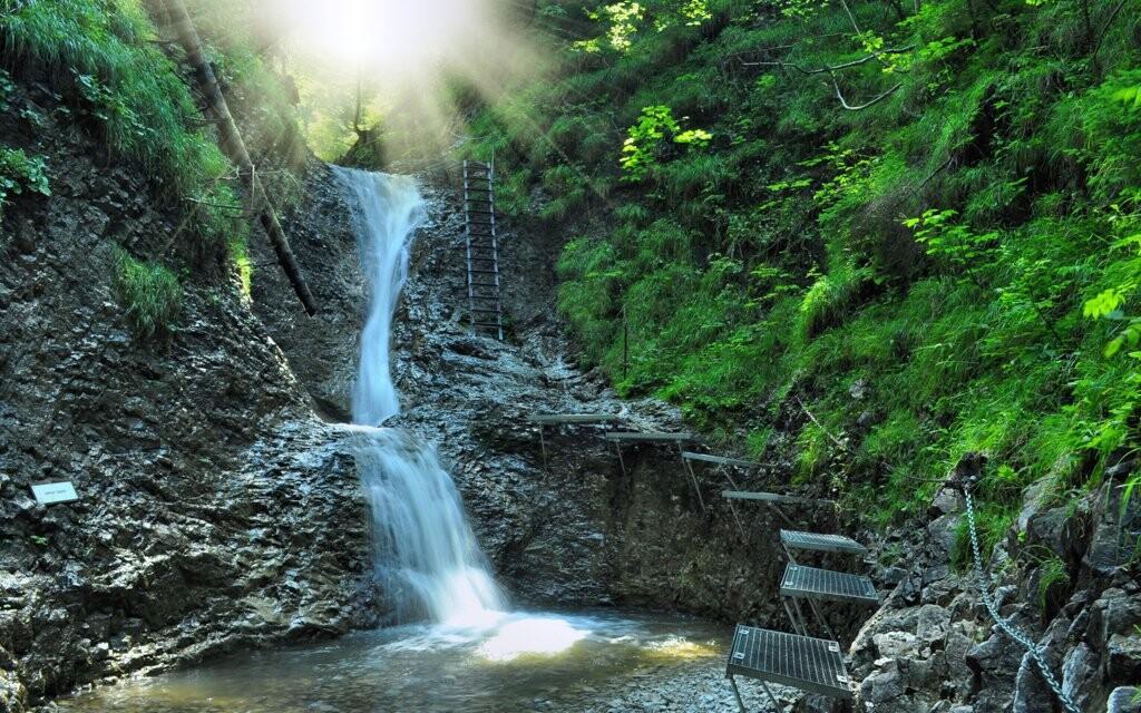 Vodopád, Národný park Slovenský raj, Slovensko