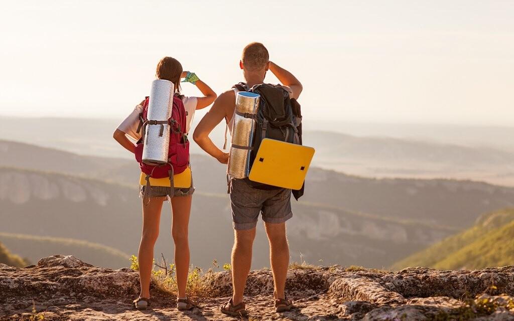 Turisté na horách, dovolená v Krkonoších