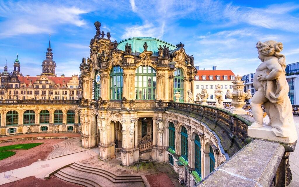 Zwinger, pamiatky Drážďany, Nemecko