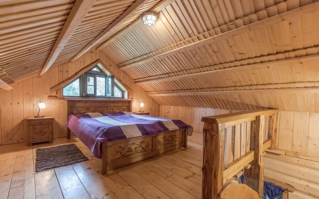 O luxusní atmosféru se postarají zrubové domčeky