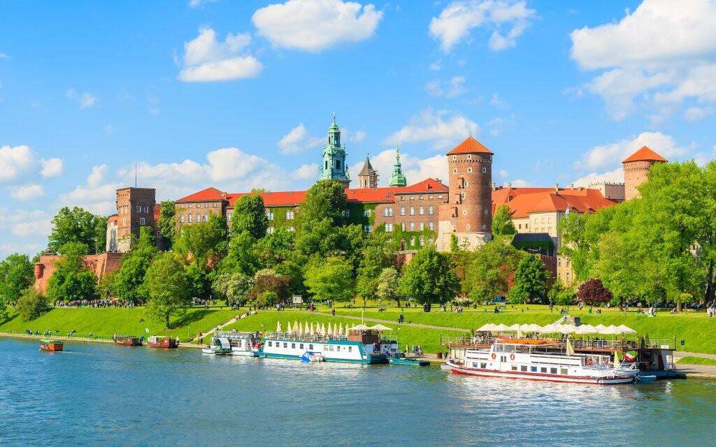 Hrad Wawel, dominanta Krakova, Polsko