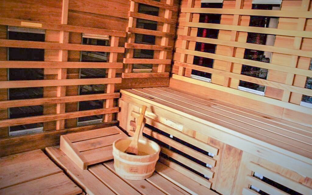 Sauna, Sweet-Life Wellness Apartments, Maďarsko