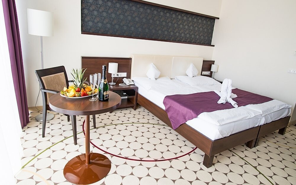Ubytovanie je elegantné a vkusné