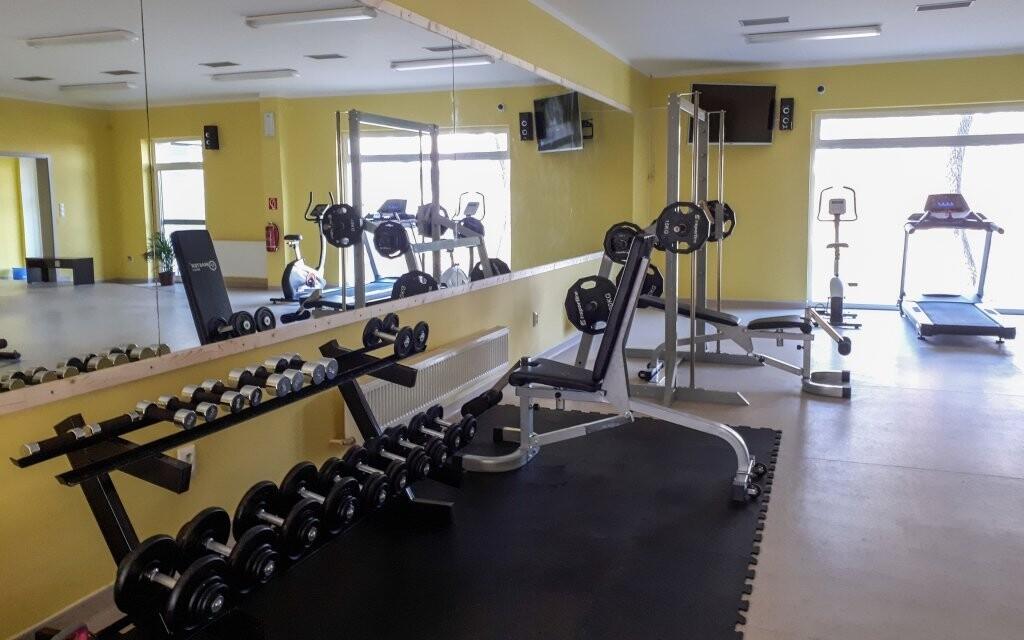 Ve fitness zóně si můžete i zacvičit