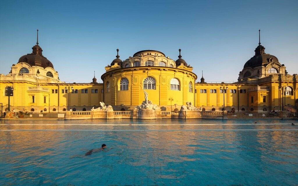 Kúpele Szechenyi, kúpele Budapešť, Maďarsko