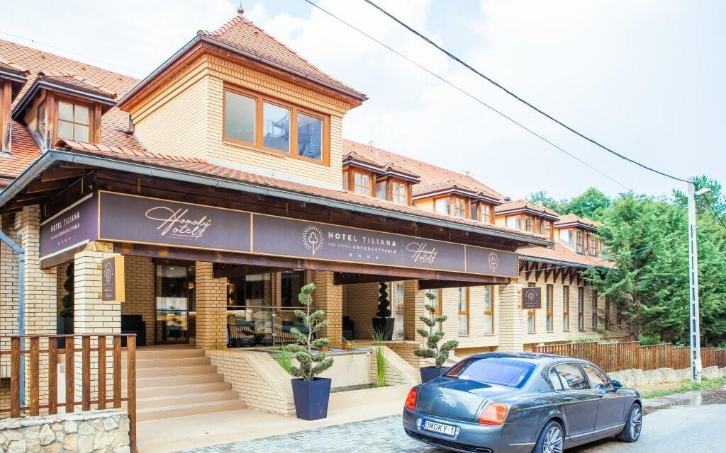 Hotel Tiliana **** stojí v klidné části Budapešti