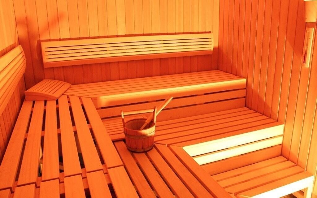 V sauně se prohřejete