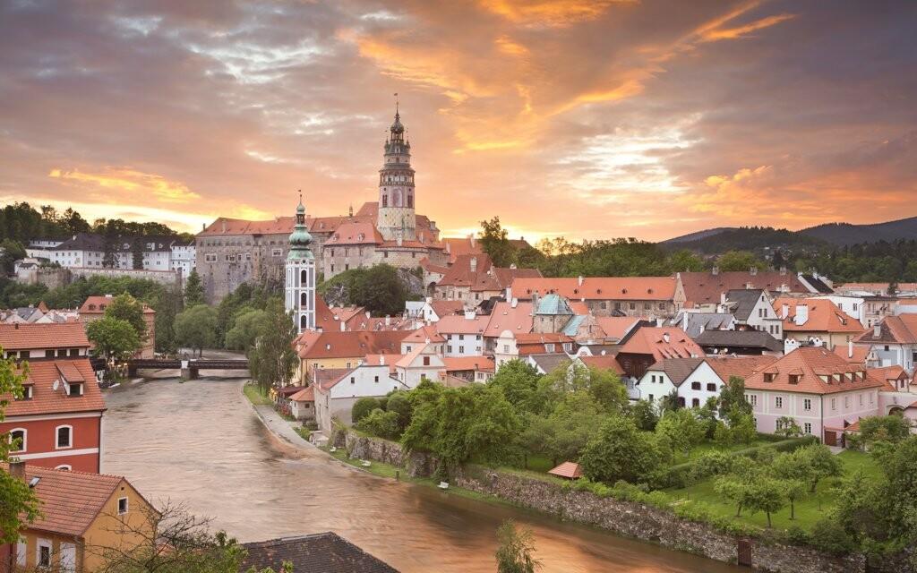 Český Krumlov zapsaný na seznamu UNESCO, jižní Čechy