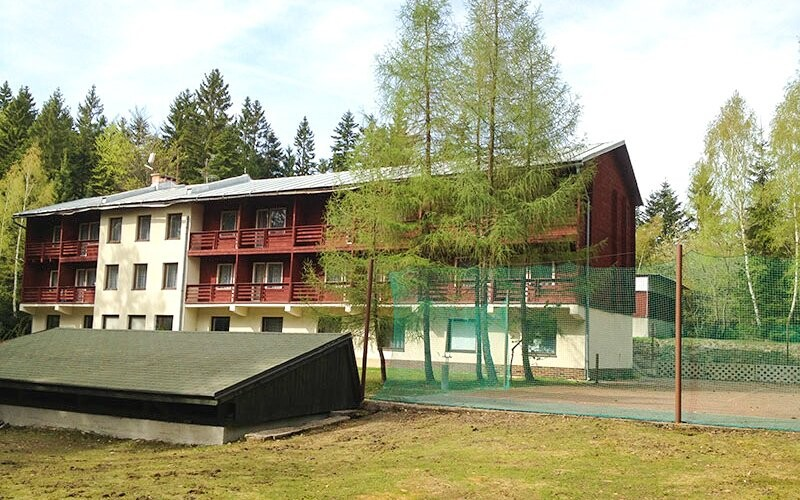Family chata Šachtičky leží uprostřed přírody