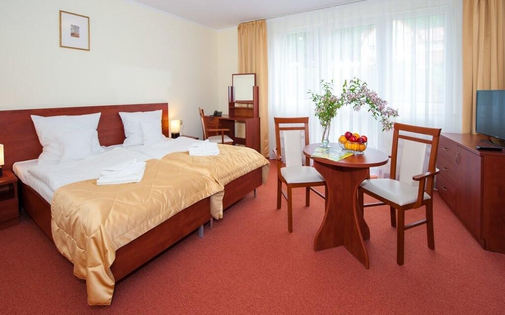 Ubytovat se můžete v pokoji Komfort