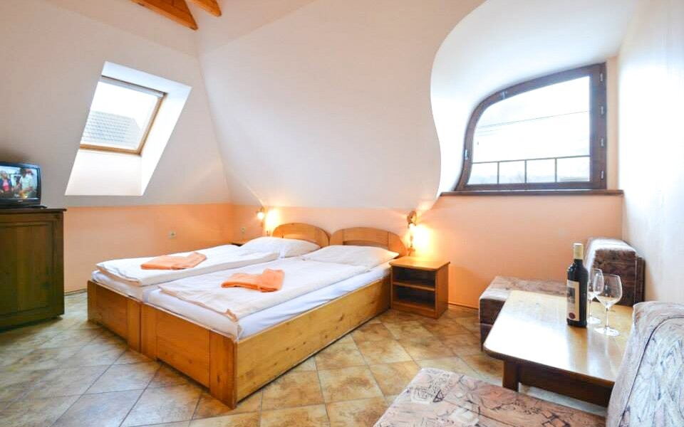 Ubytujete se v pohodlných dvoulůžkových pokojích
