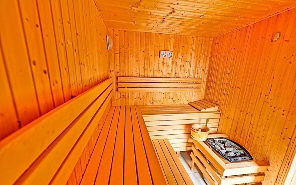 Sauna vo wellness Hotela Modrzewiówka *** v Poľsku