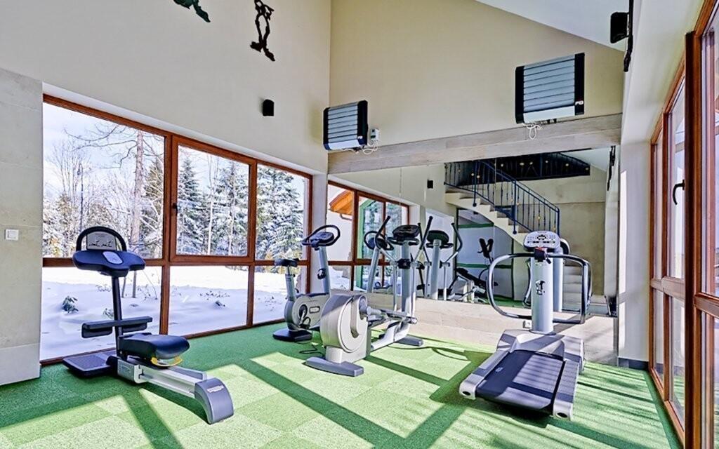Fitness v Hotelu Modrzewiówka *** Krakov Polsko