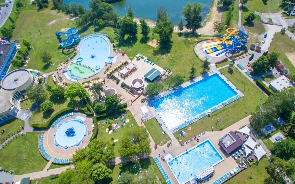 Thermalpark Dunajská Streda Slovensko letecký pohled