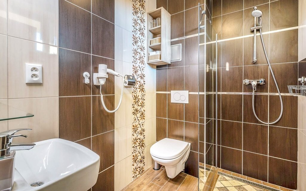 Koupelna v Apartmánech Termál *** Slovensko