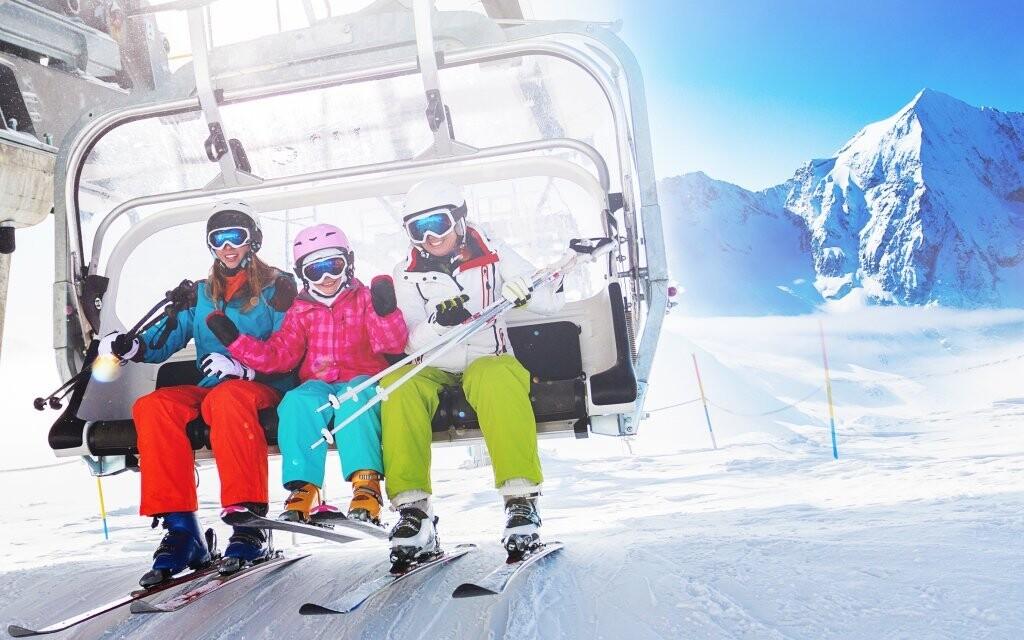 Rodinná zimní dovolená v Dolomitech v Itálii