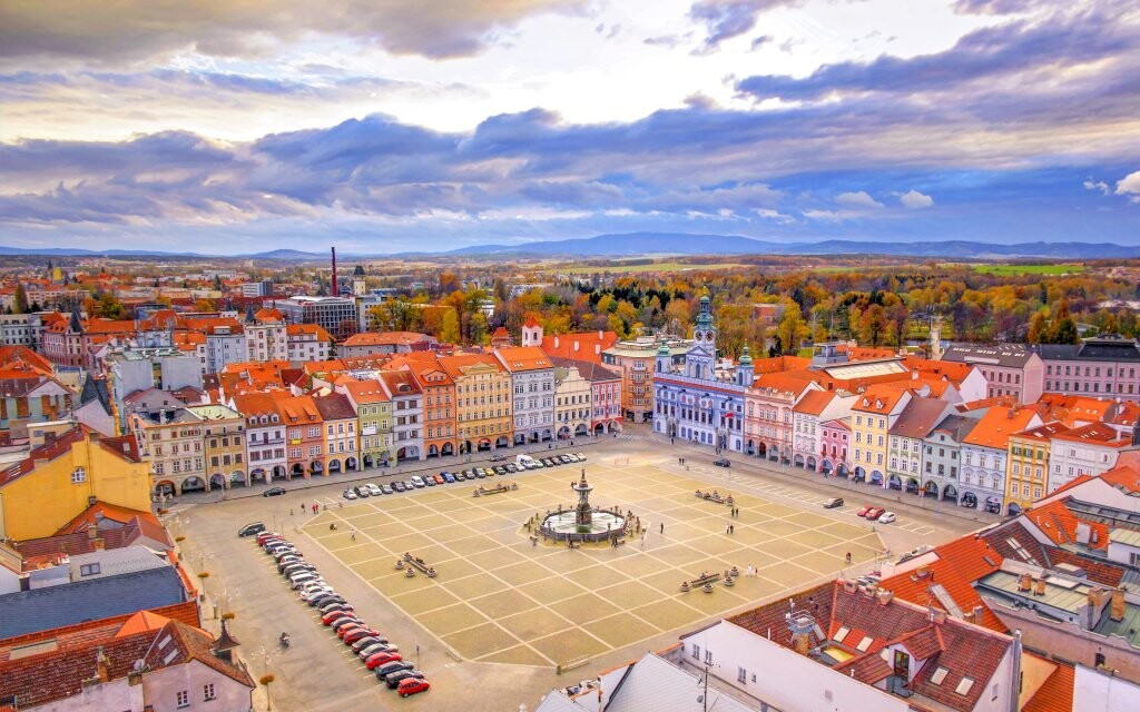 Náměstí České Budějovice, jižní Čechy