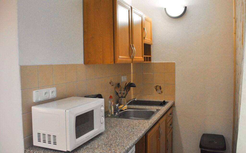 Kuchyňský kout v apartmánu Penzionu Rankl-Sepp Šumava