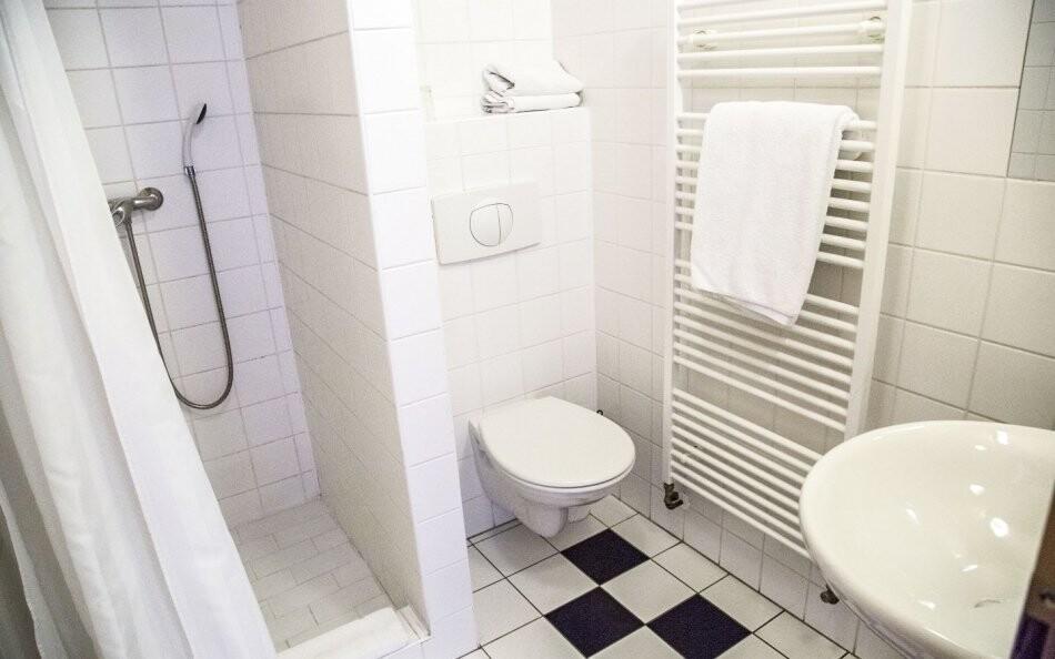 Vlastné sociálne zariadenie na izbe Hotel Praha *** Broumov