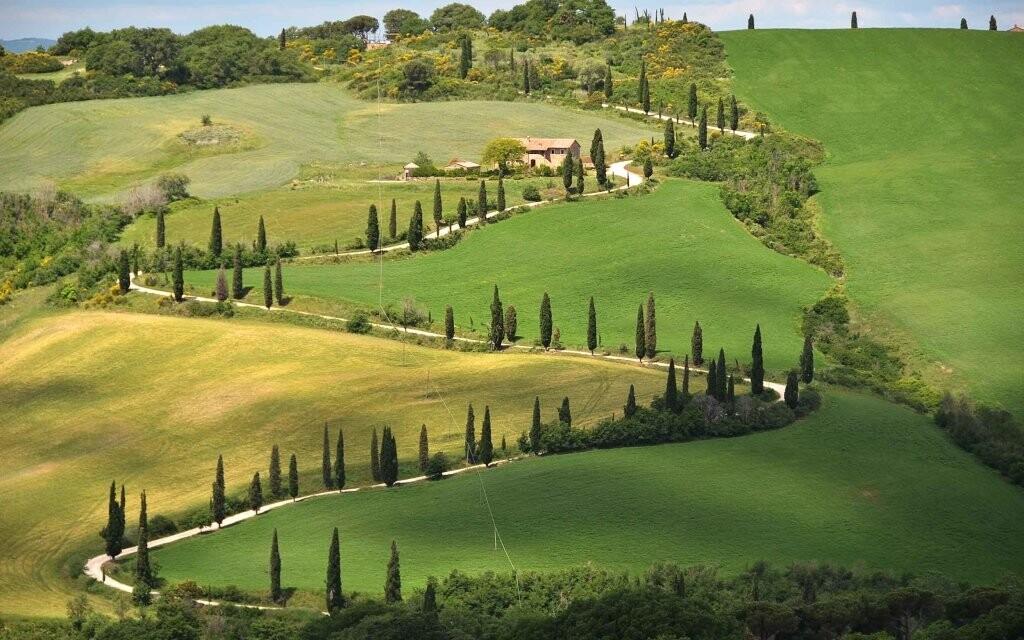 Krajina Toskánsko Itálie