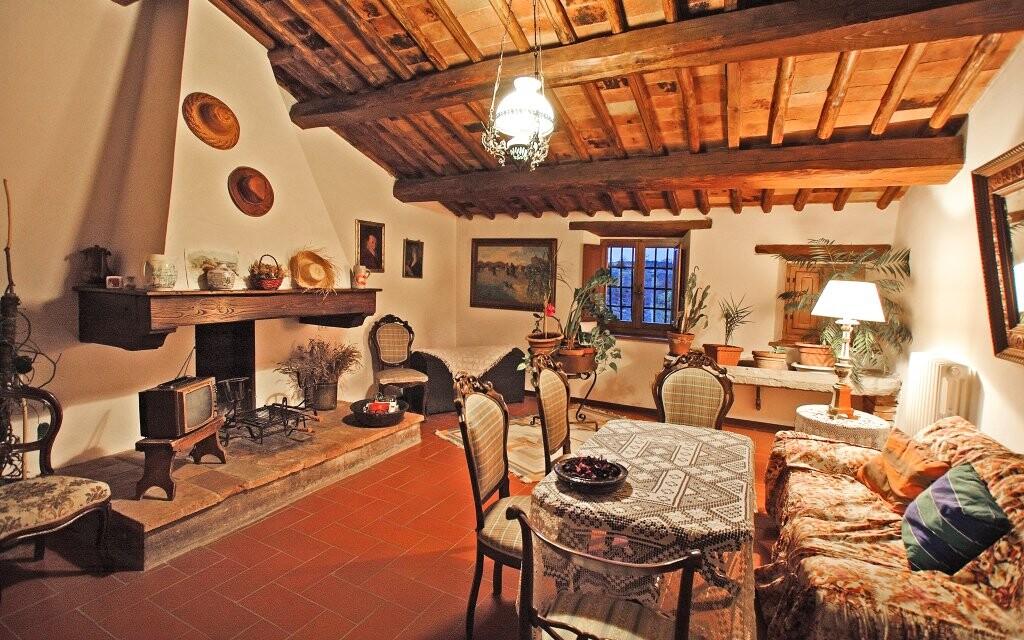 Stylové interiéry Hotelu Il Colombaio *** Toskánsko Itálie