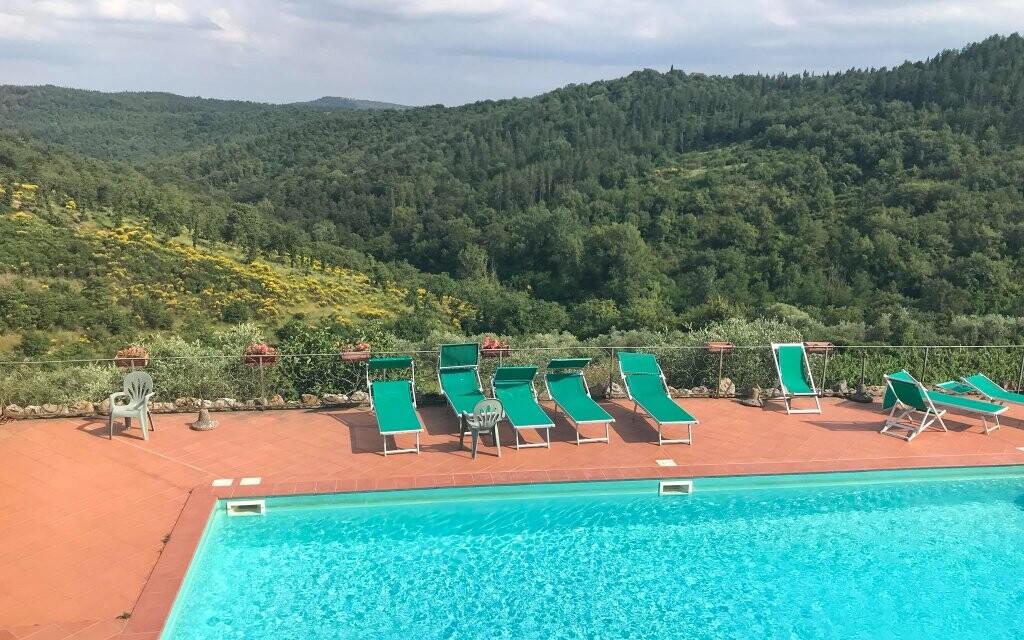 Venkovní bazénu Hotelu Villa Casalta Toskánsko Itálie