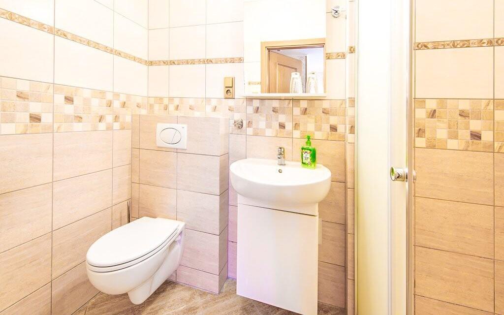 Kúpeľňa na izbe v Hoteli Lions Rakovnicko