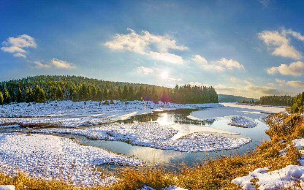 Krušné hory, kouzelná příroda i v zimě